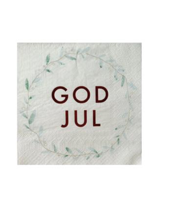 """Skjermbilde 2021 10 21 kl. 14.03.26 350x435 - Servietter """"God Jul"""" Krans"""